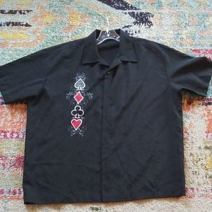 Texas Hold Em Casino Card Gambling Black Shirt XL